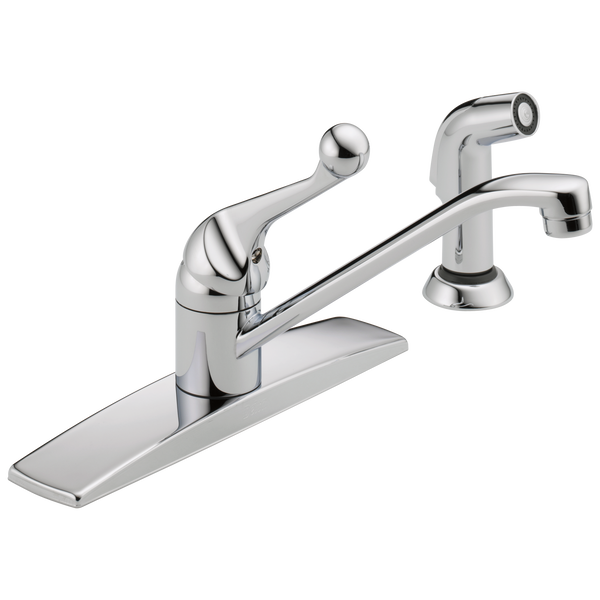 Single Handle Kitchen Faucet With Spray 400lf Wf Delta Faucet