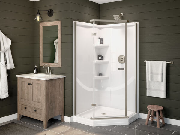 38'' Direct-to-Stud Corner Shower Wall Set, image 12