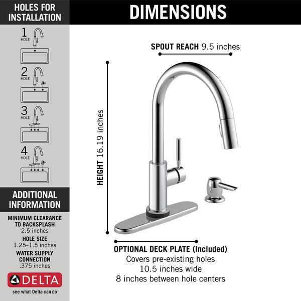 Single Handle Pull-Down Kitchen Faucet with Touch2O Technology and Soap Dispenser, image 4