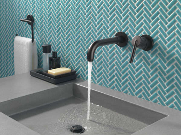 Single Handle Wall Mount Bathroom Faucet Trim, image 3