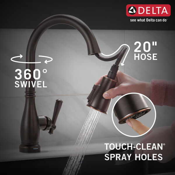 Single Handle Pull-Down Kitchen Faucet with Touch2O® and ShieldSpray® Technologies, image 8