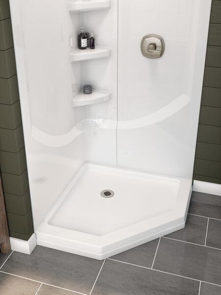 38'' Direct-to-Stud Corner Shower Wall Set, image 13
