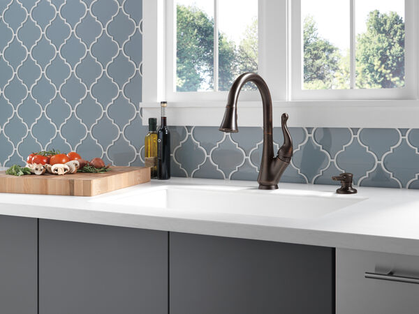Single Handle Pull-Down Kitchen Faucet with Soap Dispenser, image 8