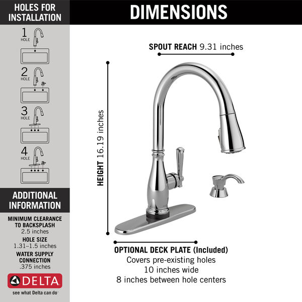 Single Handle Pull-Down Kitchen Faucet with Touch2O® and ShieldSpray® Technologies, image 4