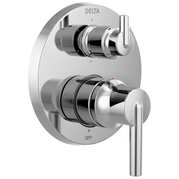 Contemporary Two Handle Monitor® 14 Series Valve Trim with 6-Setting Integrated Diverter, image 1
