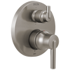Contemporary Two Handle Monitor® 14 Series Valve Trim with 6-Setting Integrated Diverter