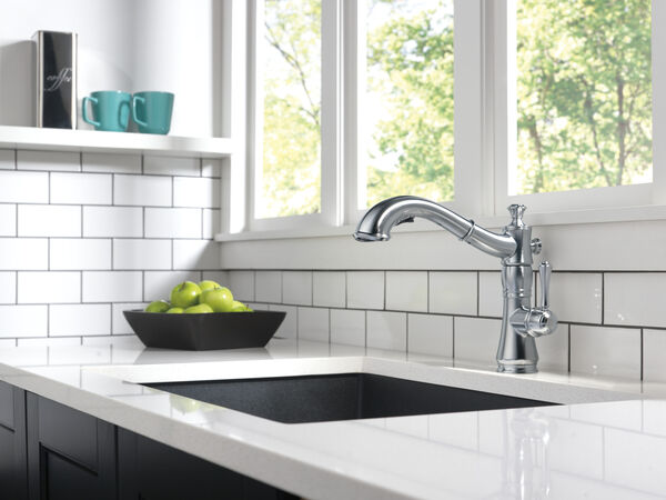 Single Handle Pull-Out Kitchen Faucet, image 8