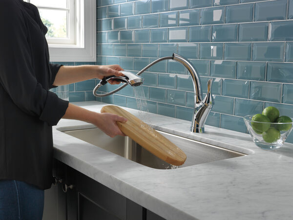 Single Handle Water Efficient Pull-Out Kitchen Faucet, image 6