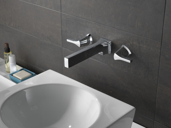 Two Handle Wall Mount Bathroom Faucet Trim, image 3