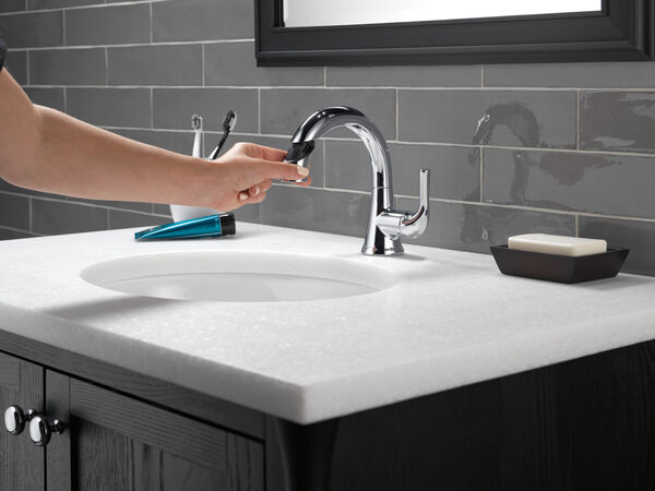 Single Handle Pull-Down Bathroom Faucet, image 7