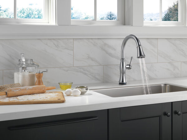 Single Handle Pull-Down Kitchen Faucet with Touch<sub>2</sub>O® and ShieldSpray® Technologies, image 21