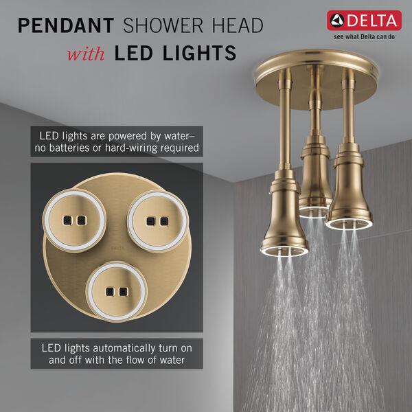 H<sub>2</sub>Okinetic® Pendant Raincan Shower Head with LED Light, image 3