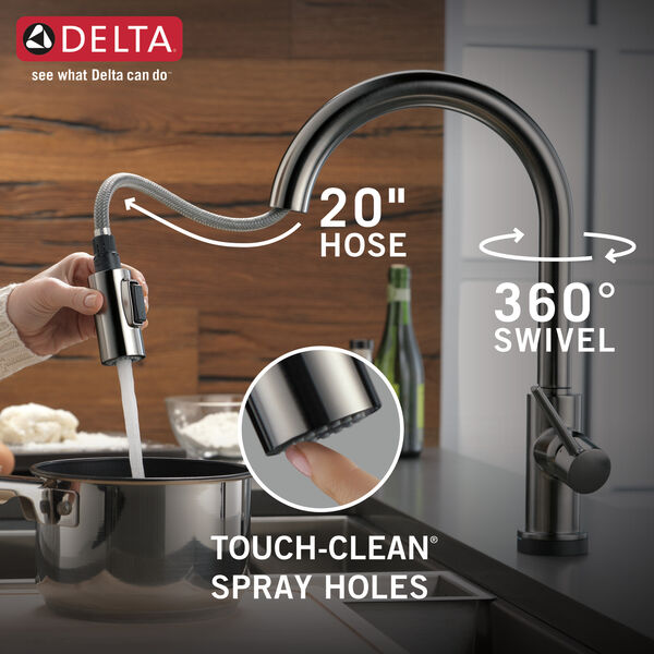 Single Handle Pull-Down Kitchen Faucet with Touch, image 9