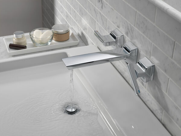 Two-Handle Wall Mount Bathroom Faucet Trim, image 3