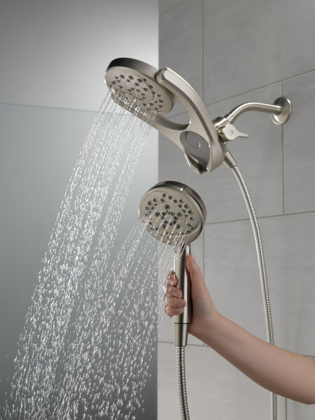 HydroRain® 4-Setting Two-in-One Shower Head, image 6