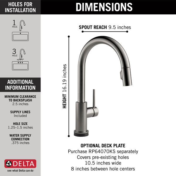 Single Handle Pull-Down Kitchen Faucet with Touch, image 2