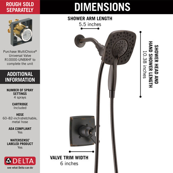 Monitor® 17 Series Shower Trim with In2ition®, image 10