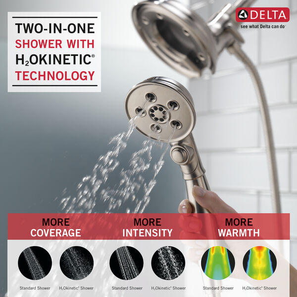 H<sub>2</sub>Okinetic® In2ition® 4-Setting Two-in-One Shower, image 2