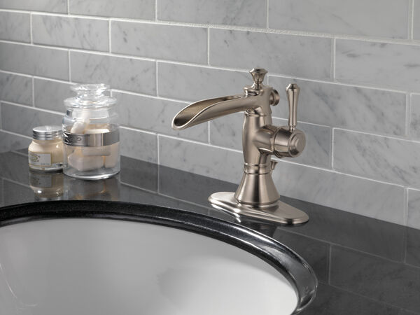 Single Handle Channel Bathroom Faucet, image 3