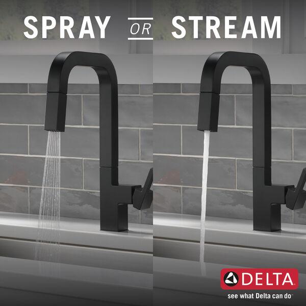 Single Handle Pull Down Kitchen Faucet 19825lf Bl Delta Faucet