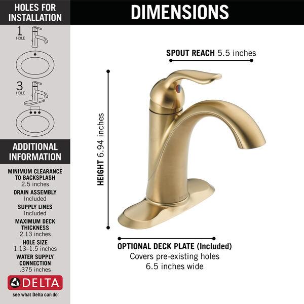 Single Handle Bathroom Faucet 538 Czmpu Dst Delta Faucet