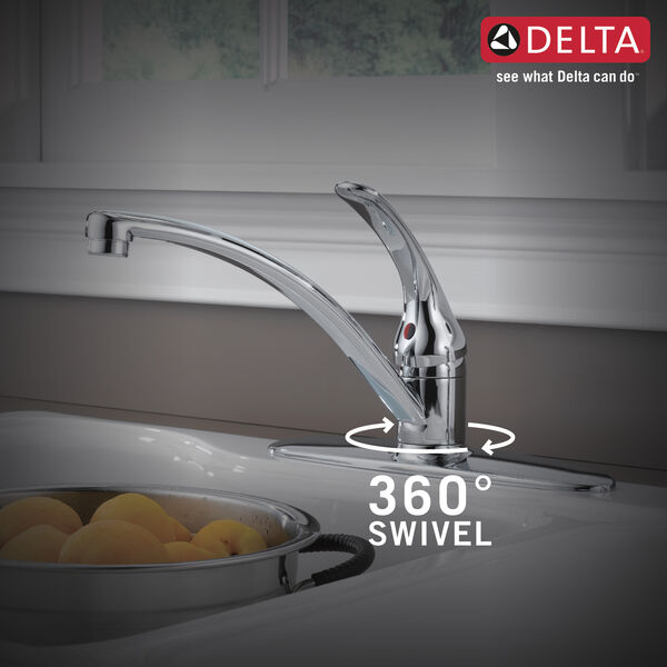 Single Handle Kitchen Faucet With Spray (Recertified), image 2