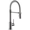 Single Handle Pull-Down Kitchen Faucet With Spring Spout