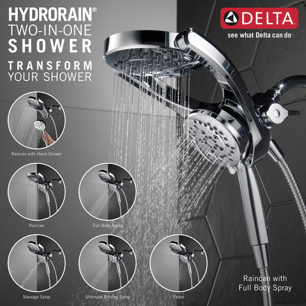 HydroRain® 4-Setting Two-in-One Shower Head, image 3