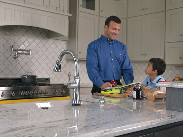 Single Handle Pull-Down Kitchen Faucet with Touch<sub>2</sub>O® and ShieldSpray® Technologies, image 12