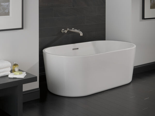 60 in. x 30 in. Freestanding Tub with Center Drain, image 5