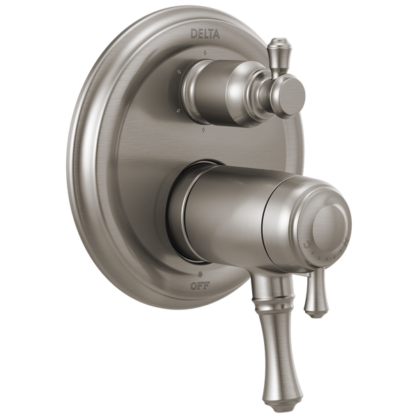 Traditional 2-Handle TempAssure® 17T Series Valve Trim with 6-Setting Integrated Diverter, image 1