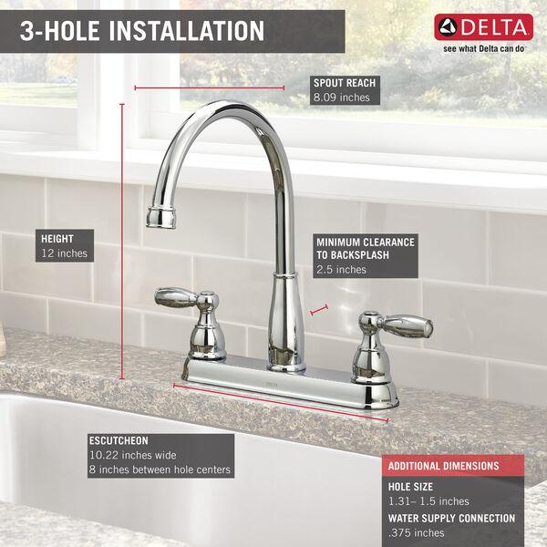 Delta 21988LF Foundations Kitchen Faucet  w// Side Sprayer Chrome Finish