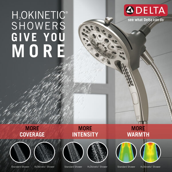 H2Okinetic® In2ition® 5-Setting Two-in-One Shower, image 2