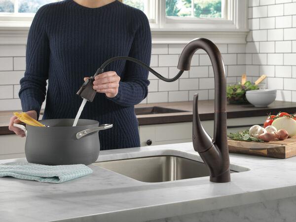 Single Handle Pull-Down Bar / Prep Faucet, image 2