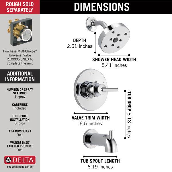 Monitor® 14 Series H<sub>2</sub>Okinetic® Tub & Shower Trim, image 5