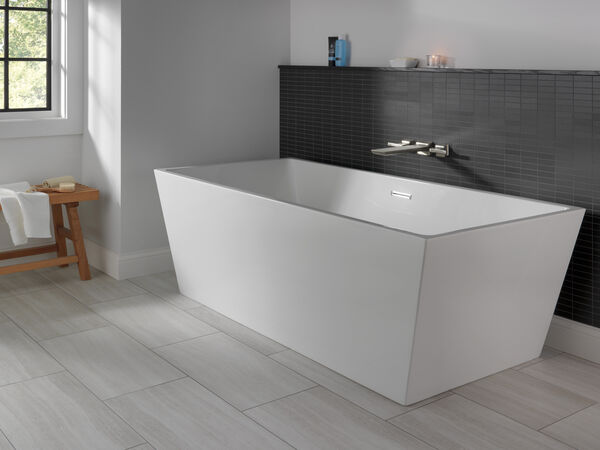 Two Handle Wall Mounted Tub Filler, image 3