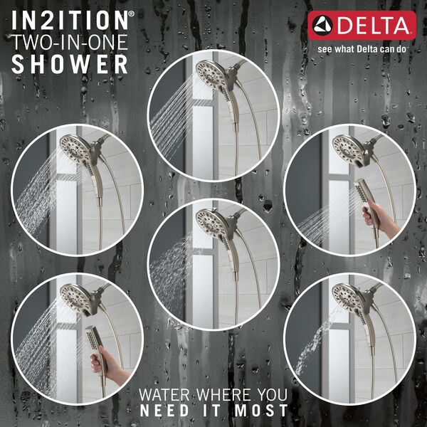 H2Okinetic® In2ition® 5-Setting Two-in-One Shower, image 4