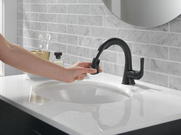 Single Handle Pull-Down Bathroom Faucet, image 4