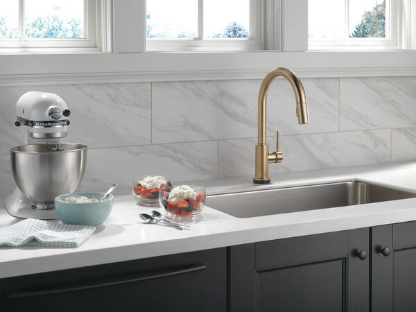 Single Handle Pull-Down Kitchen Faucet with Touch<sub>2</sub>O® Technology, image 14