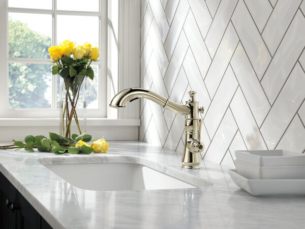 Single Handle Pull-Out Kitchen Faucet, image 5