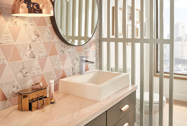 Single Handle Channel Bathroom Faucet, image 6