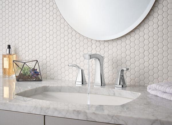 Two Handle Widespread Bathroom Faucet - Metal Pop-Up, image 8