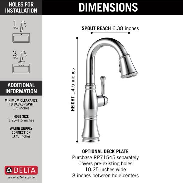 Single Handle Pulldown Bar/Prep Faucet, image 3
