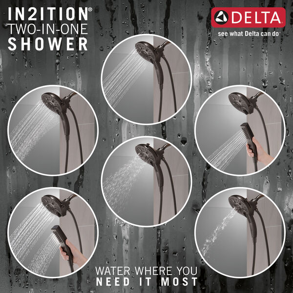 In2ition® H<sub>2</sub>Okinetic® 5-Setting Two-in-One Shower, image 4