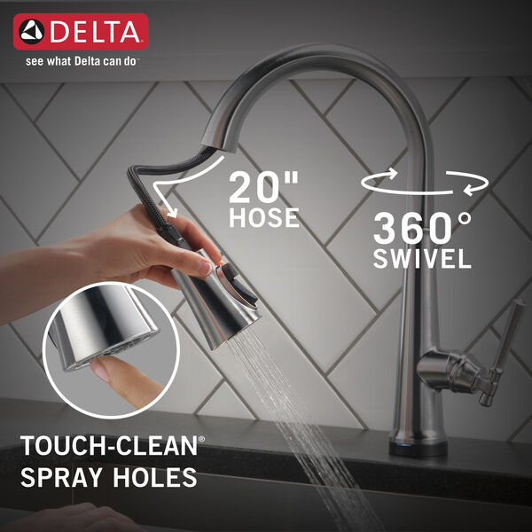 Single Handle Pull Down Kitchen Faucet with Touch2O Technology, image 14