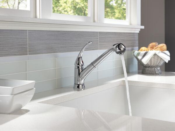 Single Handle Pull Out Kitchen Faucet B4310lf Delta Faucet