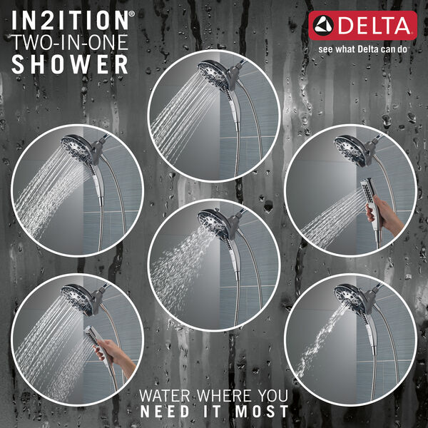 H2Okinetic® In2ition® 5-Setting Two-in-One Shower (Recertified), image 4