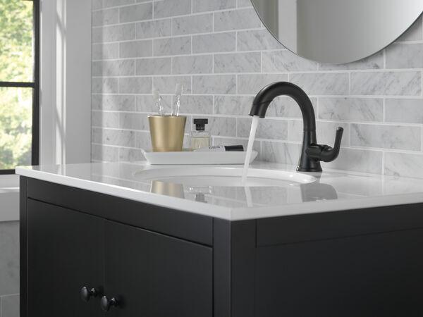Single Handle Pull-Down Bathroom Faucet, image 12