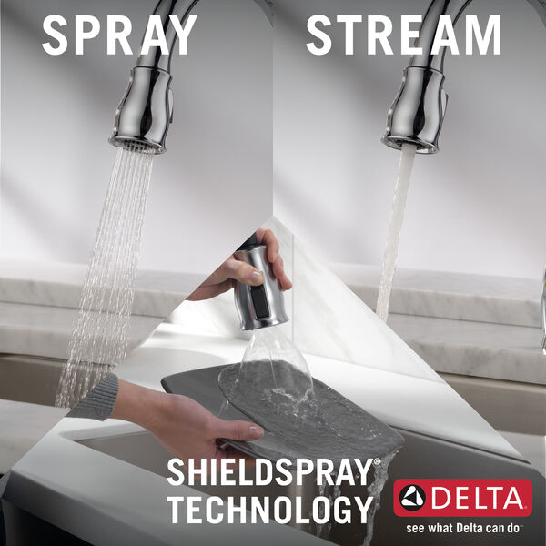 Single Handle Pull-Down Kitchen Faucet with ShieldSpray® Technology, image 13