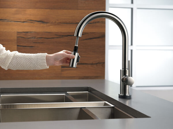 Single Handle Pull-Down Kitchen Faucet with Touch, image 6